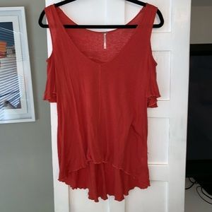 Women Free People Cold Shoulder Top on Poshmark